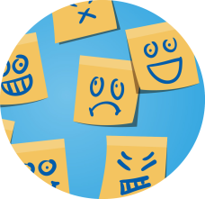 post it emoticonos